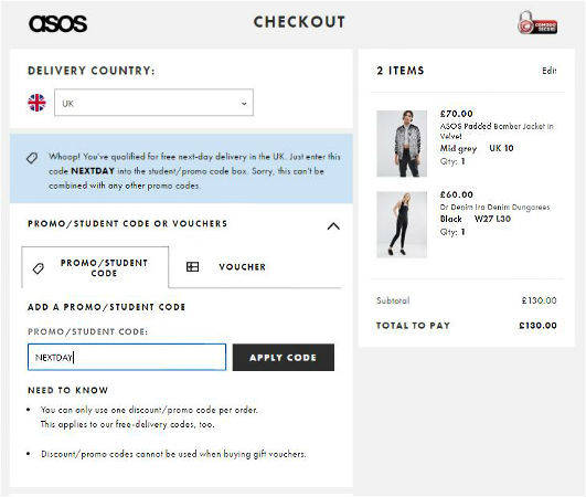 View ASOS Deals How to Use Coupons and Codes. ASOS Tips & Tricks ASOS regularly posts sale information on their website. Students are eligible for a 10% student discount at ASOS. How to get Free Shipping at ASOS. ASOS currently offers free shipping with orders $40 and above. ASOS .