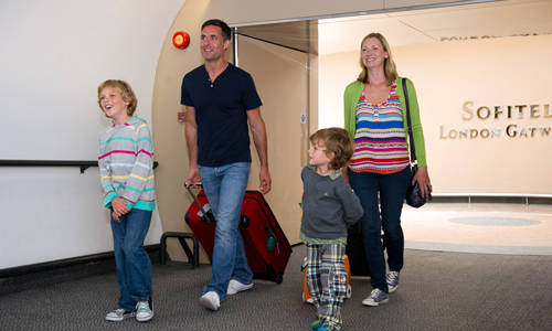 Familie Flughafen