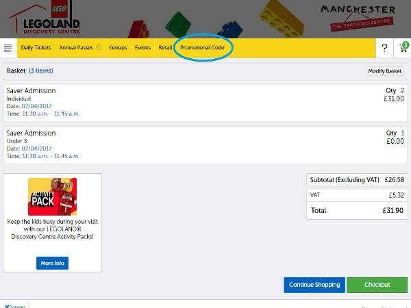 How to use LEGOLAND Discovery Centre vouchers