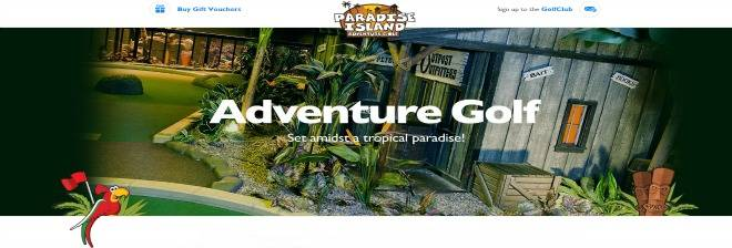 Paradise Island Adventure Golf banner image