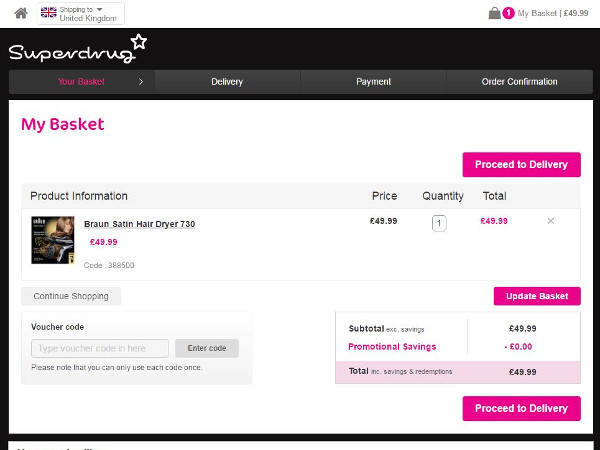 Superdrug coupon code