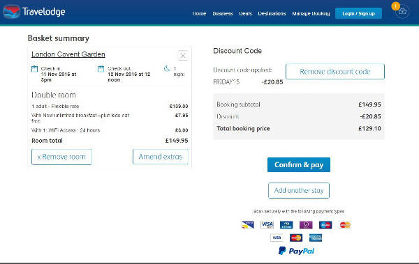 Travelodge promo codes 1