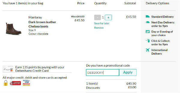 debenhams travel insurance promo code