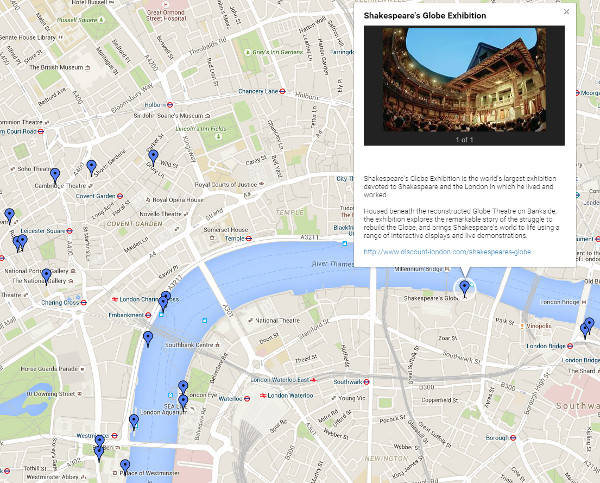 Discount London attractions map
