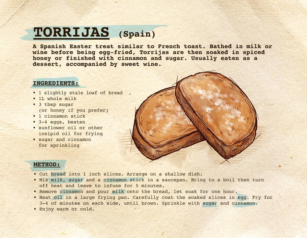 Easter Treats Torrijas recipe