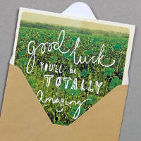 Paperchase good luck card