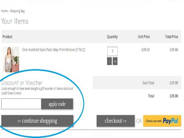 How to use Lisa Angel voucher codes
