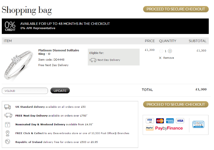 How to use a Beaverbrooks voucher code