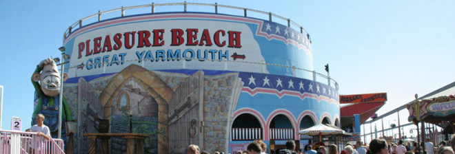 Pleasure Beach Great Yarmouth voucher banner