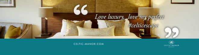 Celtic Manor Resort luxury bed