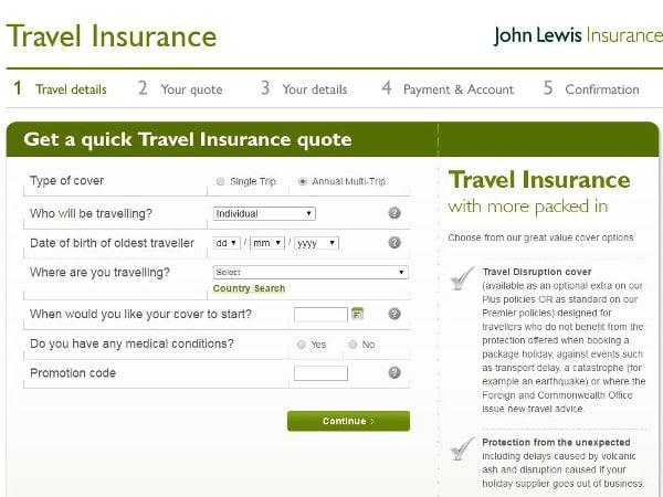 John Lewis travel discount code