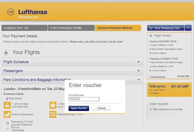 Lufthansa discounts