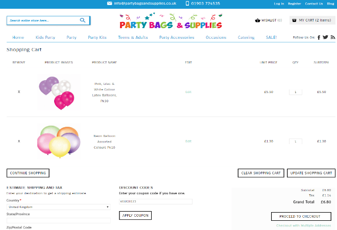 Party Things 2 Go discount code