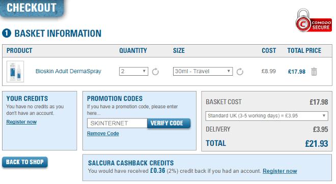 salcura discount code