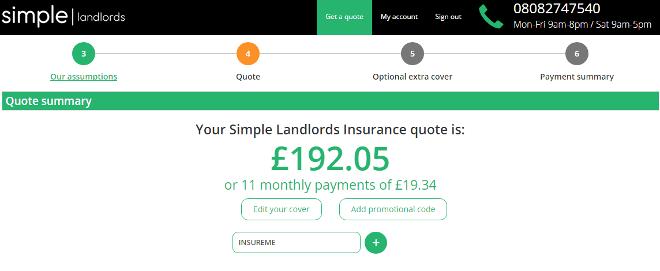 simple landlords insurance promo code