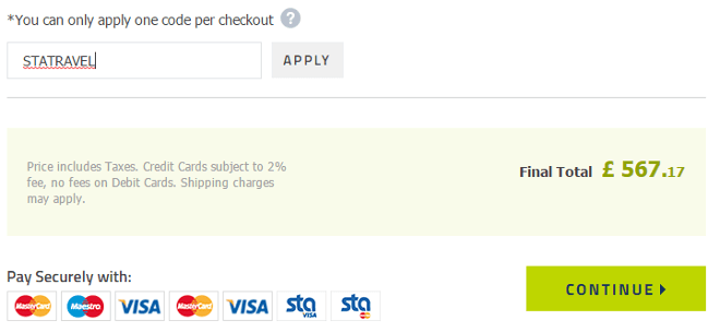 sta travel discount code