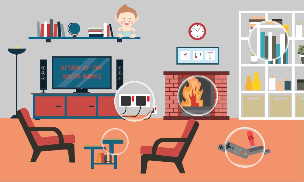 Living Room hazards to children