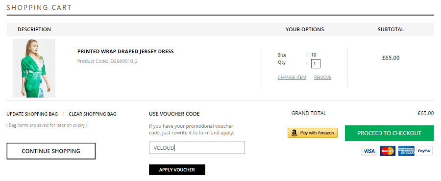How to use a closet discount code
