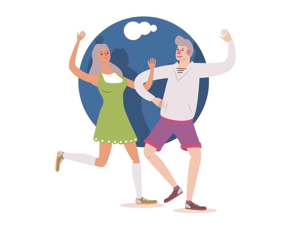 Elderly dancing image
