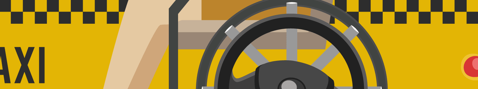 Wheelchair in a taxi