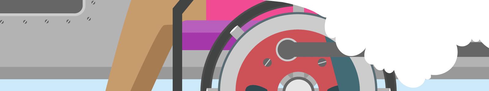 Wheelcair on a train