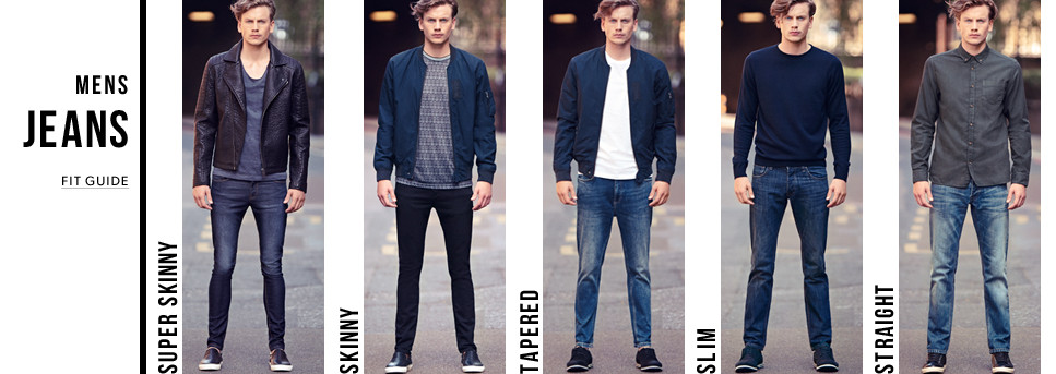 new look mens jean fit guide