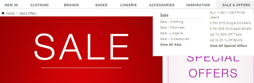 Evans plus size clothing sale and offers