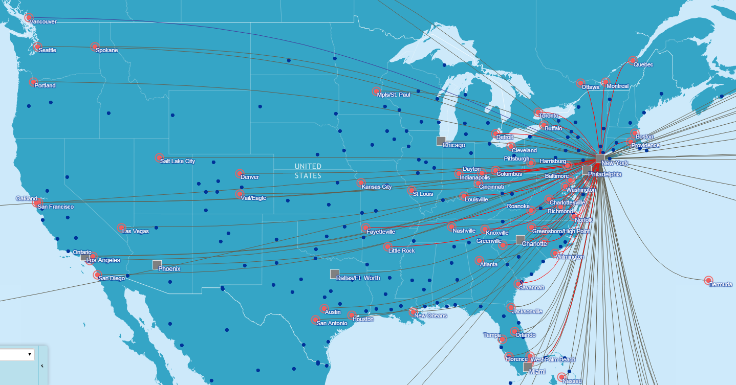 Jetblue Route Map Flight Routes Of Delta Etc In The Usa 946x475 Os Map Google