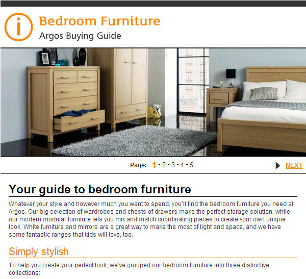 argos buying guide bedroom furniture