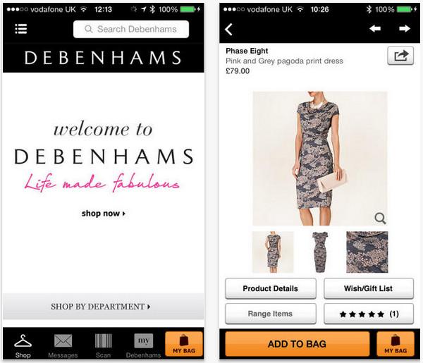 debenhams mobile app