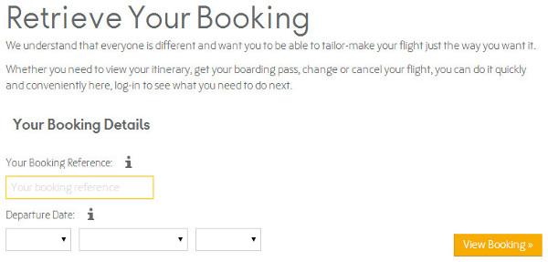 thomas cook online check in