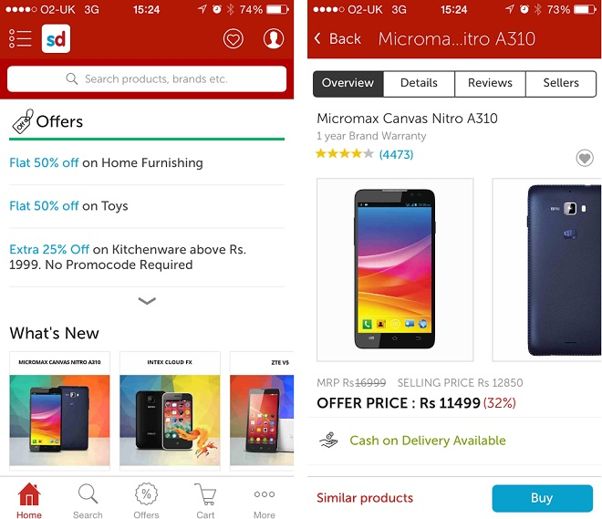 Snapdeal discount coupons for mobiles