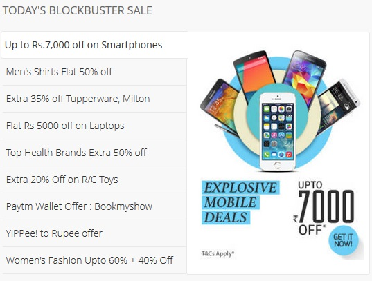 Paytm Blockbuster Sale