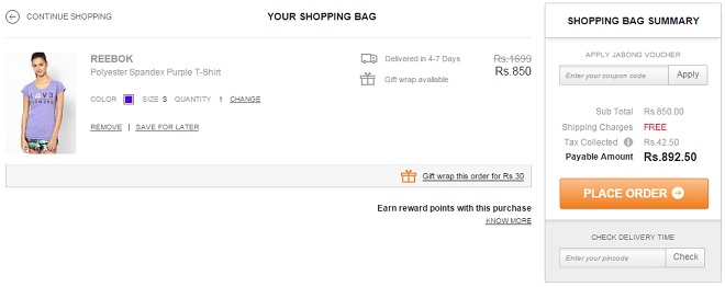 Jabong How to Use Coupon
