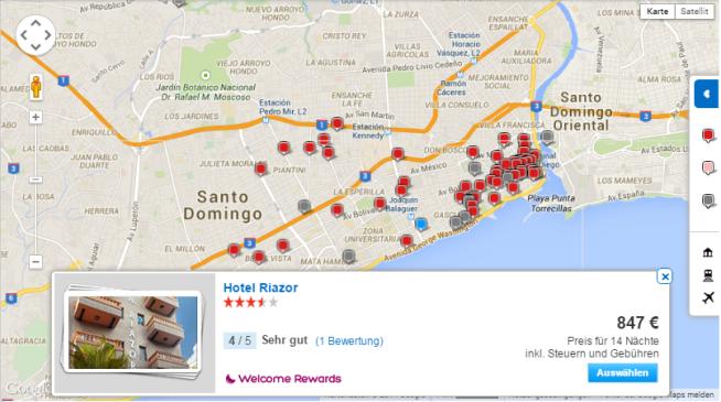 Suchergebnisse auf Karte Hotels.com