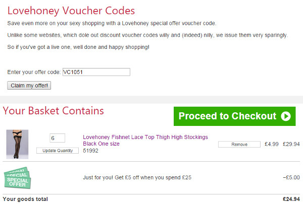 Lovehoney voucher code