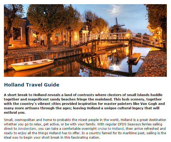DFDS travel guide
