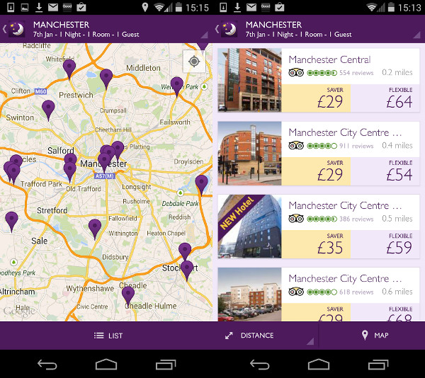 Premier Inn mobile app