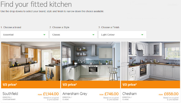 50 off homebase discount code 2015 vouchers for Cheap fitted kitchens