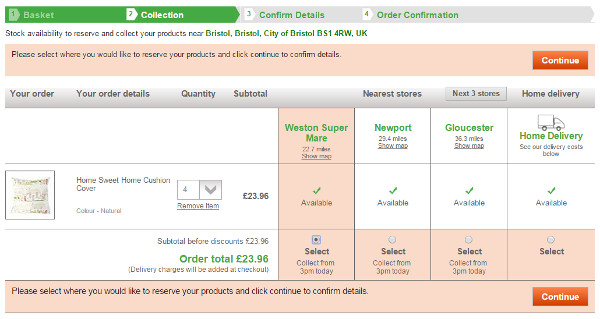 Dunelm delivery