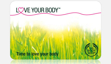 The Body Shop loyalty card