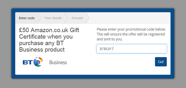 BT Business broadband discount code