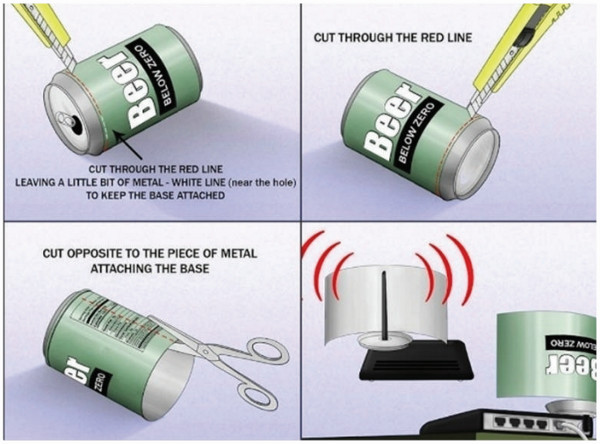 improve wifi with a tin can