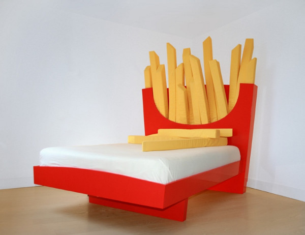 JUST EAT french fries bed