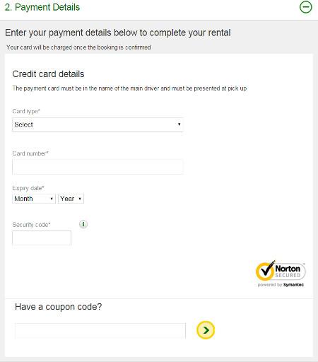 Europcar rental coupons